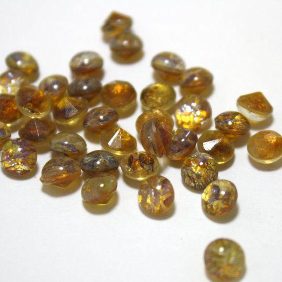 12 Round Vintage Glass Prima Quality Czech by ThisPurplePoppy