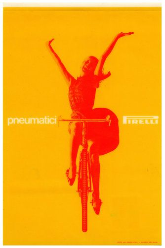 An advertisement for Pirelli designed by Massimo Vignelli in 1964