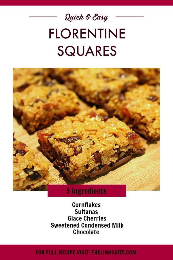 If You Have Never Tried Florentines Before Then You Need To Make These Quick And Easy Florentine Squares Thelin Square Recipes Florentines Recipe Milk Recipes