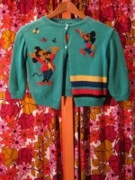 Super cute MICKEY MOUSE hand knit cardigan - SOLD