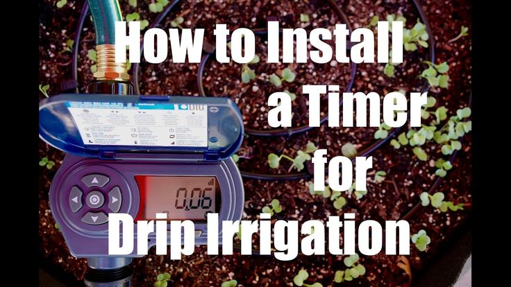 How to Install a Drip Irrigation Timer to Automatically Water a Garden /...