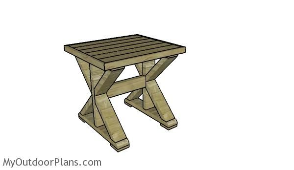 Farmhouse side table plans
