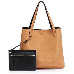 minimal smart τσάντα διπλής όψης σε black nude