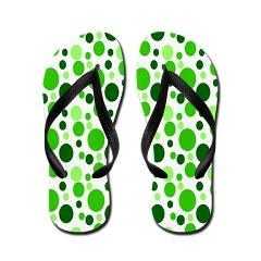 Bubbles in Green Flip Flops