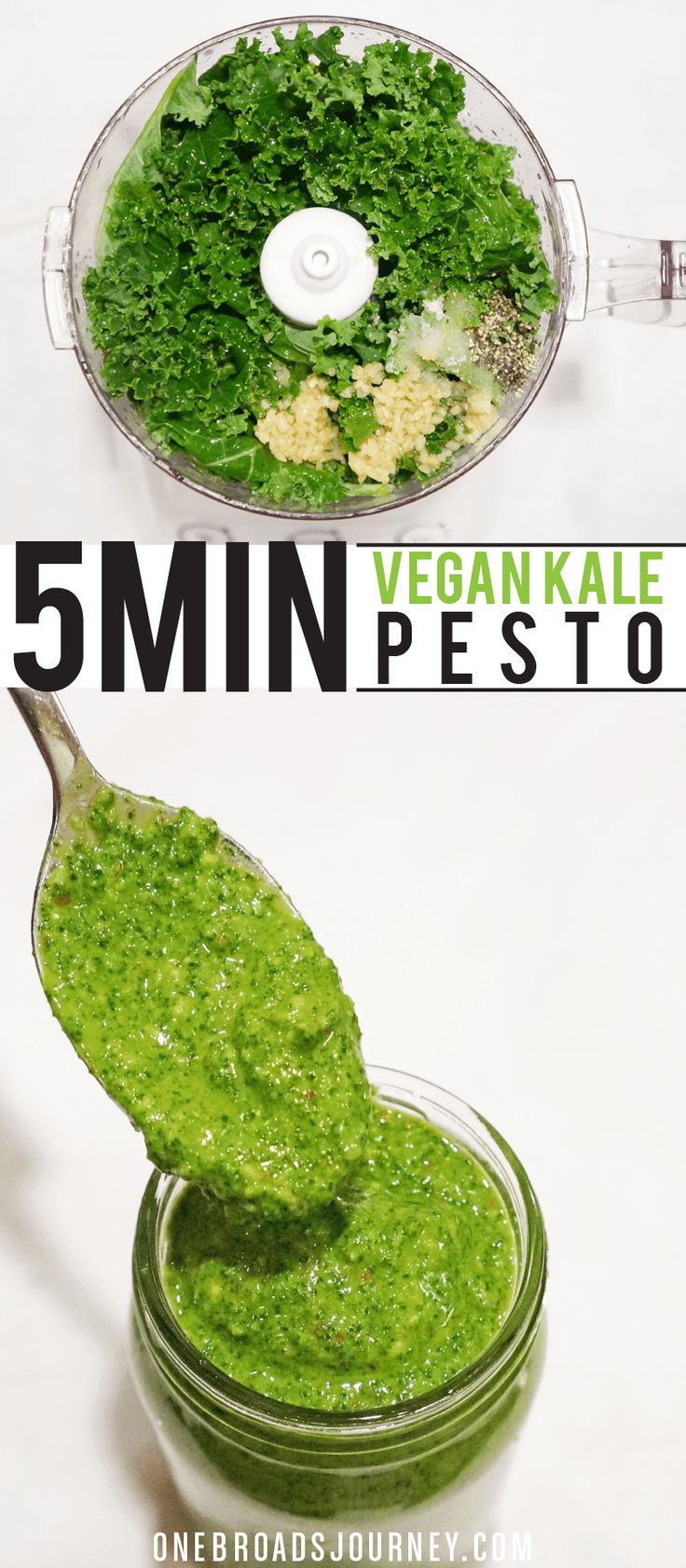 Quick Vegan Kale Pesto
