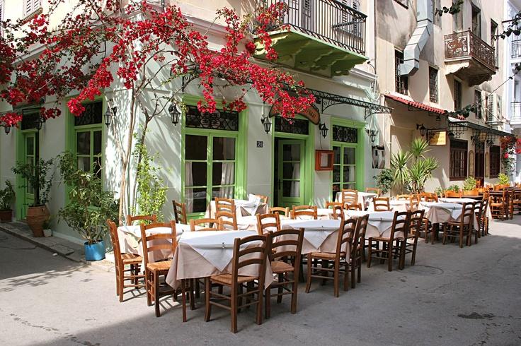 Typical Nafplion taverna, Greece