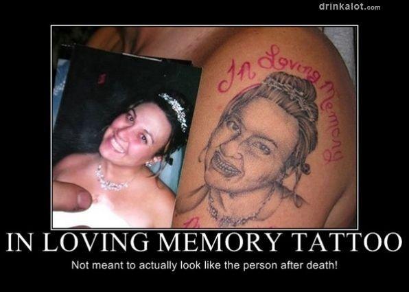 Pics Photos - In Loving Memony Misspelled Tattoo