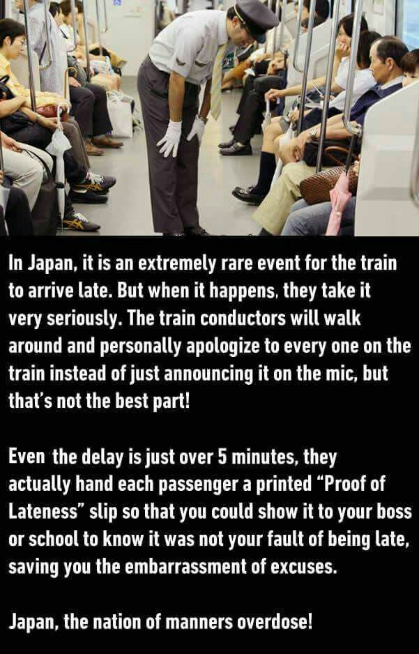 Or they could be like Chicago and be late so often but super random that saying the train was late is acceptable!