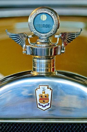 1928 Pierce-Arrow Boyce MotoMeter Hood Ornament by Jill Reger  1928 Pierce-Arrow Model 36 7-passenger touring… Boyce MotoMeter – Hood Ornament – Radiator Cap