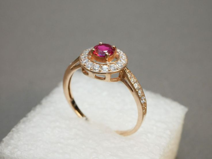 Vintage Ring Sterling Silver 925 (Gilded) USSR Russia
