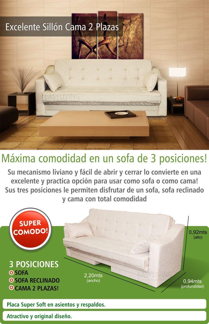 Sillón Cama 2 Plazas Modelo Futton Futon 3 Posiciones - $ 5.223,00 en MercadoLibre