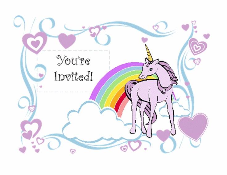 Unicorn Birthday Party Invitation Templates Office Com