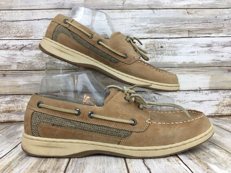 Clarks Womens Size 9M Brown Nubuck Leather Moc Toe Lace Up Casual Boat Dock Shoe #Clarks #BoatShoes #Casual