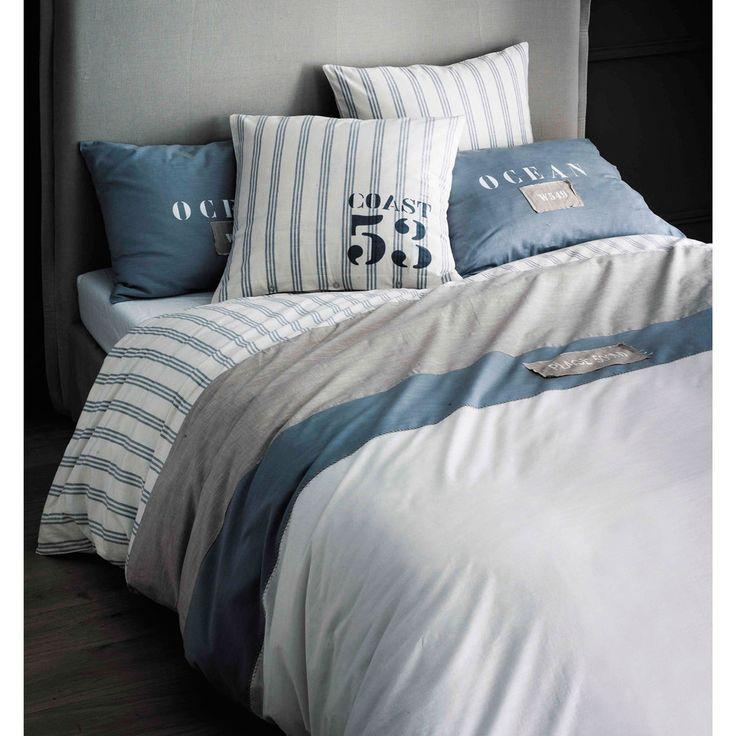 Parure de lit 240 x 260 cm en coton blanche | Maisons du Monde