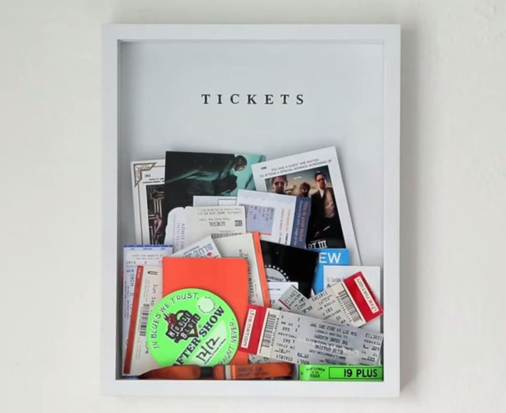 DIY Ticket Box - an easy way to store and display tickets or other memories!-- we should so do this!