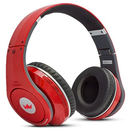 Red CMBH-9299 Wireless Bluetooth Headphones with FM Receiver
