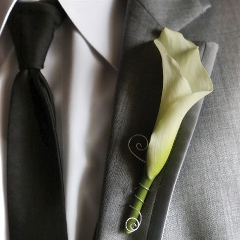 White Calla Lilly Boutonniere Kristi! We can make these...
