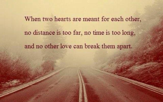 love knows no distance