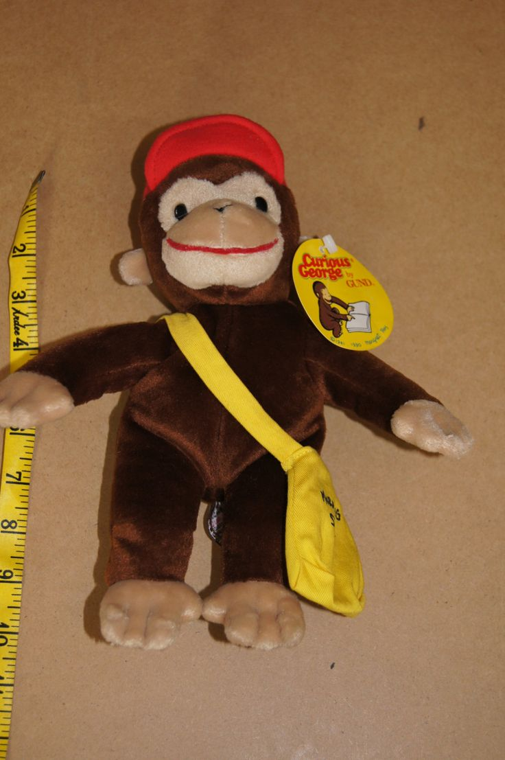 Vintage 1990 - Gund Curious George, Morning Star Newspaper Delivery Stuffed Animal Toy New by TheMercerStreetHouse on Etsy