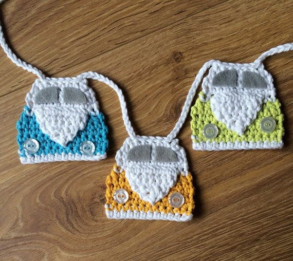 Pdf Pattern for VW Campervan Crochet Bunting by FloAndDotShop