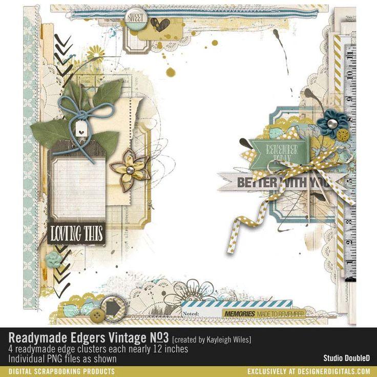 Readymade Edgers: Vintage No. 03- Studio Double-D Elements- EL359285- DesignerDigitals