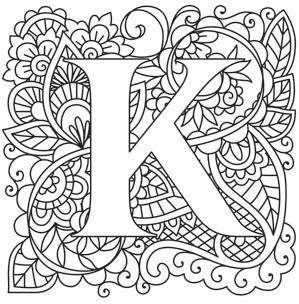 Mendhika Letter K image L E T T E R S