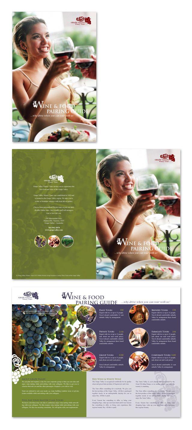 Vineyard & Winery Tour Brochure Template http://www.dlayouts.com/template/193/vineyard-winery-tour-brochure-template