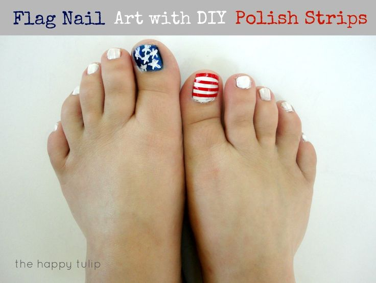 The Happy Tulip: Flag Nail Art with DIY Polish Strips