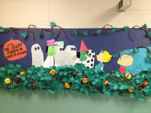 It's The Great Pumpkin Charlie Brown! | Fall Bulletin Board Idea