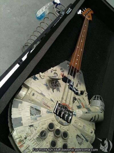 Millenium Falcon bass guitar.