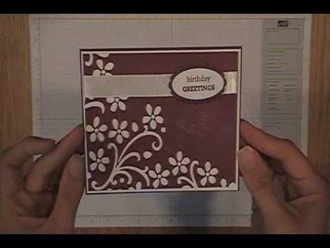 Dry emboss card.