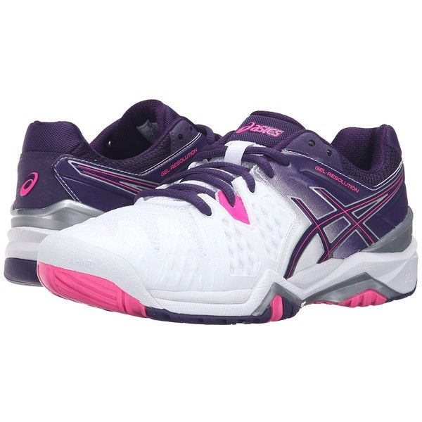 Women S Gel Resolution  Tennis Shoes White And Parchute Purple