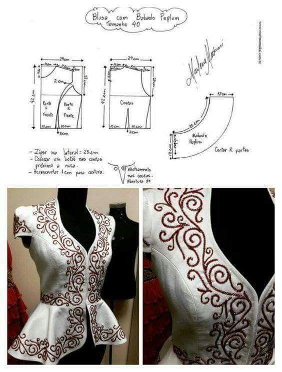 Pin by Mamta Singh Rajput on BLOUSES | Pinterest | Costura, Bordado ...