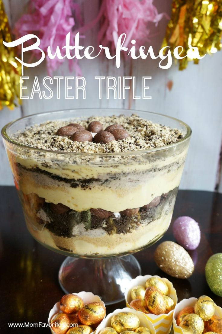Gather round your family and friends with these spring party ideas and be sure to pin the Butterfinger Easter Trifle recipe! #ad #EasterEssentials