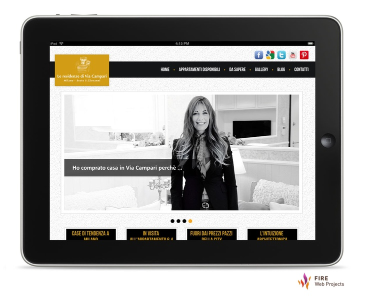 #Webdesign and development of viacampari web site: luxury apartments in Milano, Italy. Click here to read the case study.  http://www.firewebprojects.com/case-studies/leresidenzediviacampari.aspx