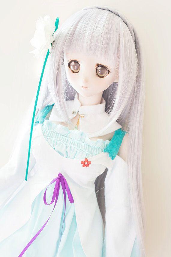 Emilia One Piece Dress Outfit  Re: Zero Kara Hajimeru by CfphkBJD