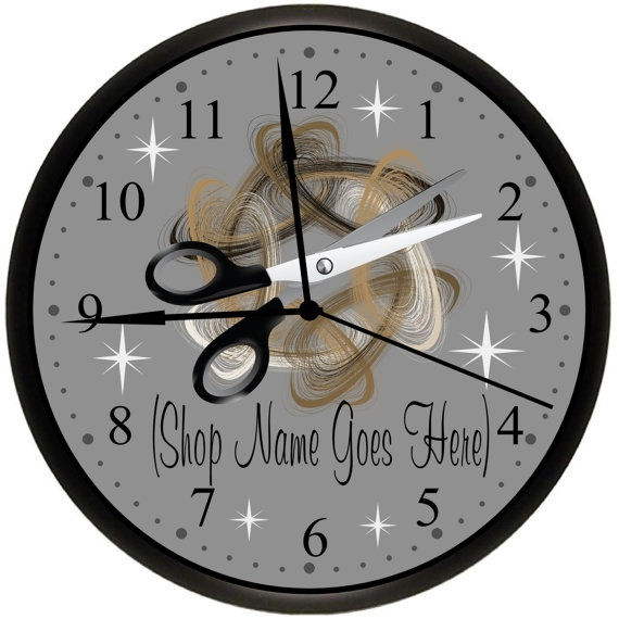 Beauty Shop / Beauty Salon / Hair Stylist / Hairdresser Personalized Wall Decor Art Business Clock Gift Idea by SimplySouthernGift, $18.00