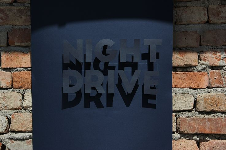 Night drive -experimental poster- on Behance