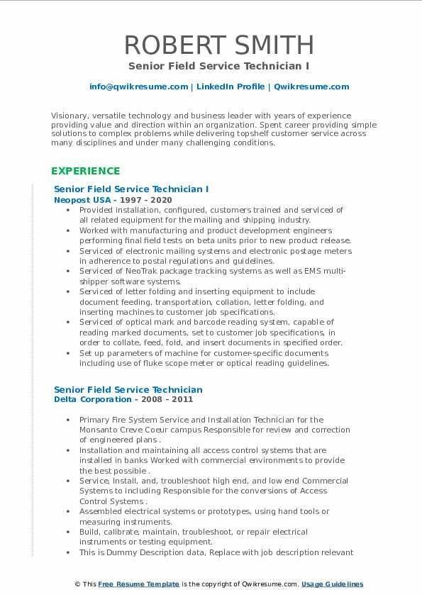 Field Technician Resume Example In 2021 Teacher Resume Examples Resume Examples Manager Resume