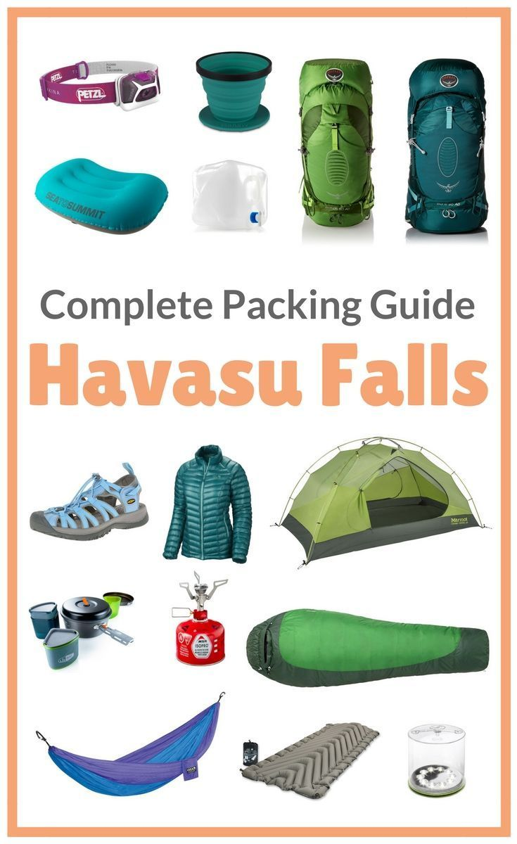 What to pack for Havasu Falls, Arizona. Now that you have your permit to camp in the Havasupai Reservation you're probably wondering what to bring. Follow this detailed packing list for hiking to Havasu Falls! by Wandering Wheatleys (@wanderingwheatleys)#HavasuFalls#Havasupai#Arizona#GrandCanyon#USA#NorthAmerica#Hiking#Camping#Backpacking#Waterfall