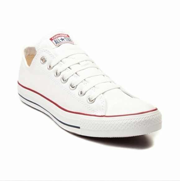 IOS CHEAP White Converse!!!!!! Pls comment if u have any! Size men's 7/women's 9! Converse Shoes Sneakers