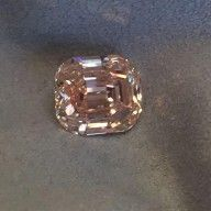 Other - Cushion cut natural fancy pink-brown diamond of 8.50 ct