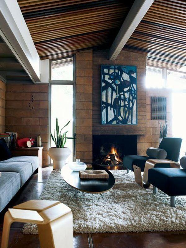 79 Ideen für stilvolle Wohnzimmer aus der Mitte des Jahrhunderts