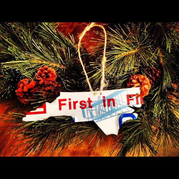 Just bought two - so cute! Handmade North Carolina License Plate Ornament by 50states50plates, $15.00