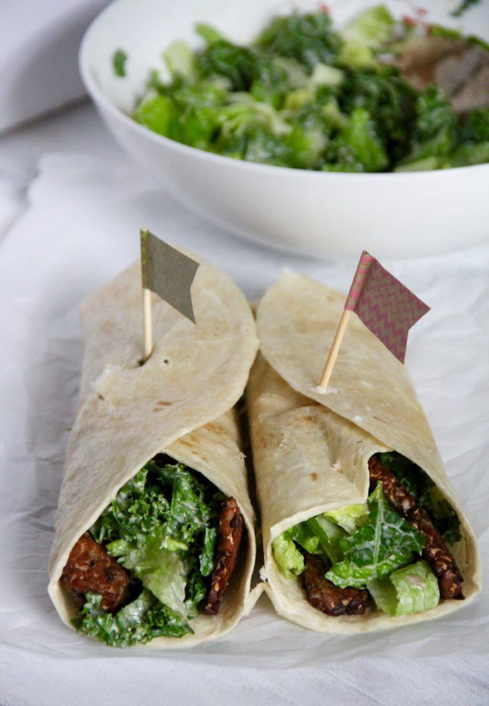 Kale Caesar Wrap with Tempeh Bacon