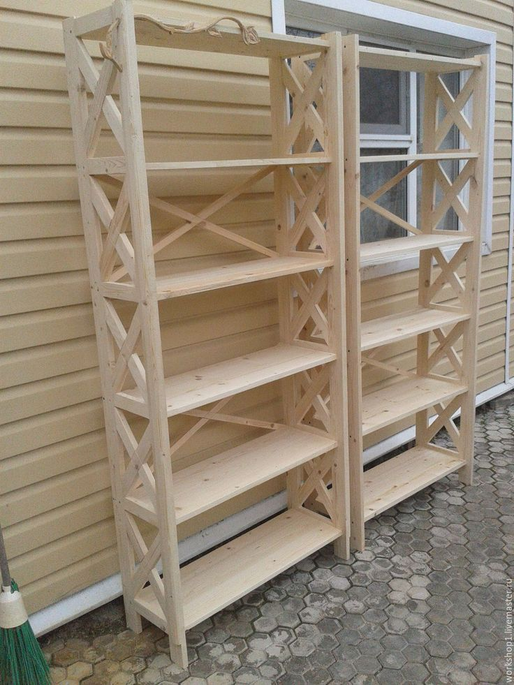Купить стеллаж для магазина дома дачи офиса - коричневый, стеллажи, мебель на заказ, мебель для дачи
