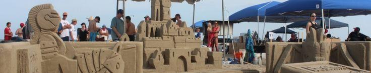 Galveston sand castle competition- beginning of June