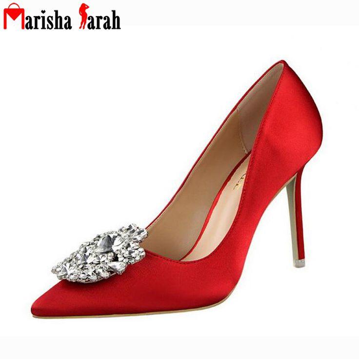 Elegant Rhinestone Pumps 2016 Autumn/Spring Women Shoes New Fashion Thin High Heels Diamond Pointed Toe Ladies Shoe //Price: $US $25.06 & FREE Shipping //     #woman