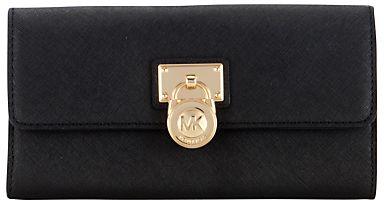 MICHAEL Michael Kors Hamilton Large Flapover Purse on shopstyle.com.au