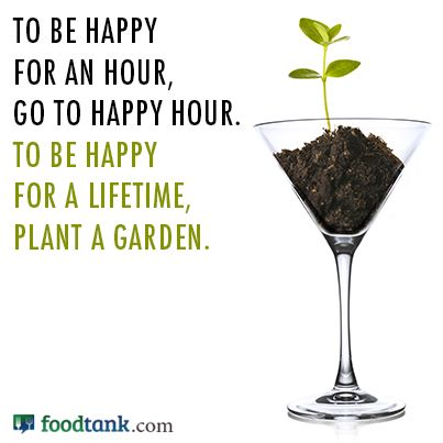 """To be happy for an hour....go to happy hour. To be happy for a lifetime, plant a garden"" #Gardening #HappyHour #QuotesGardening"
